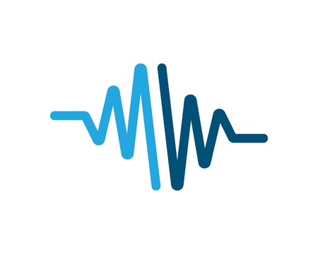 sound wave ilustration logo vector icon template Illustration