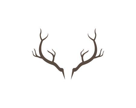Deer,Antler ilustration logo vector template Illustration