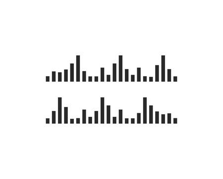 sound wave ilustration logo vector icon template Ilustração