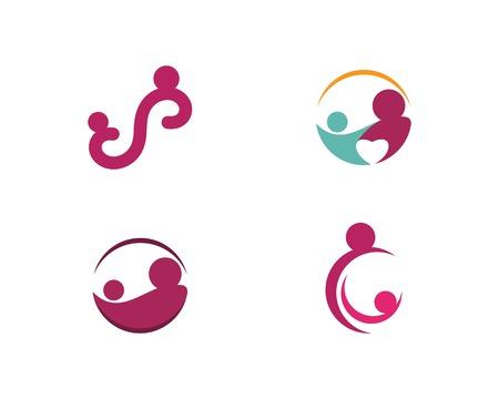 Baby care logo vector icon template