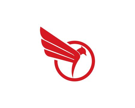 Bird Logo Template vector icon  イラスト・ベクター素材