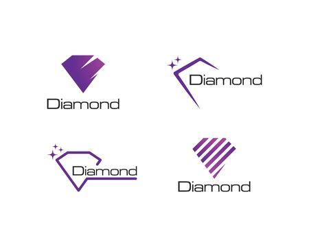 Diamond logo vector icon template Ilustracja
