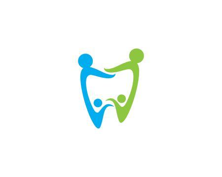 Dental logo Template vector illustration icon design Banco de Imagens - 118496497