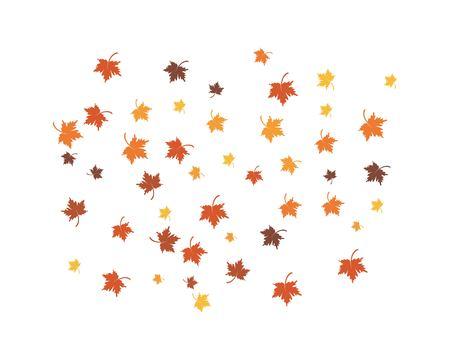 autumn Leaf background concept  template vector illustration
