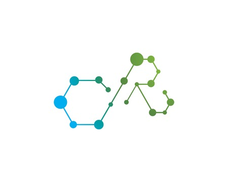molecule logo vector icon template