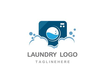 Laundry logo vector icon template