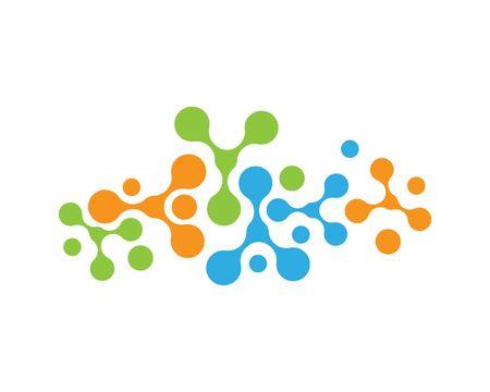 molecule ilustration  vector icon template