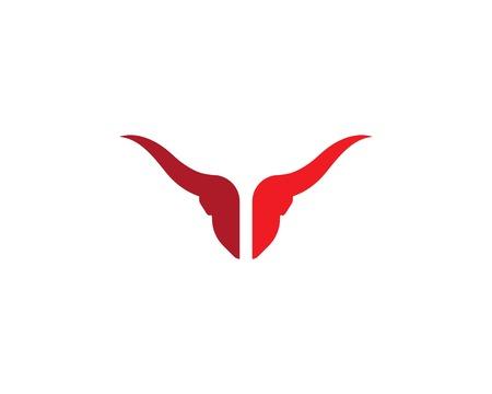 Bull Taurus Logo Template vector icon illustration