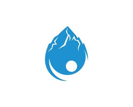 water drop Logo Template vector illustration design Ilustração