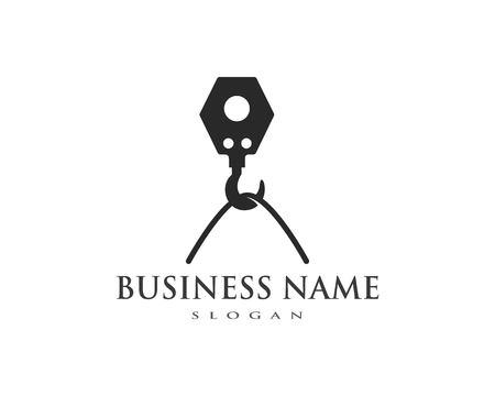 Crane hook logo vector template Ilustração