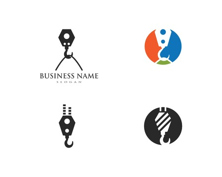 Crane hook logo vector template Banque d'images - 122379033
