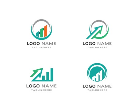 Business Finance professional logo template vector icon Illusztráció