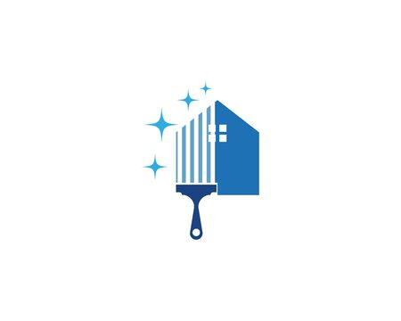 House cleaner logo vector template