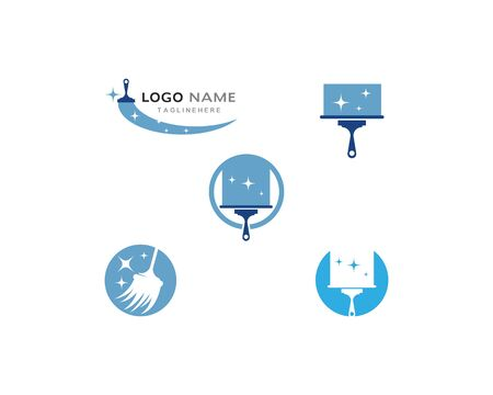 cleaner logo vector template