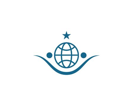 globe ilustration logo vector template