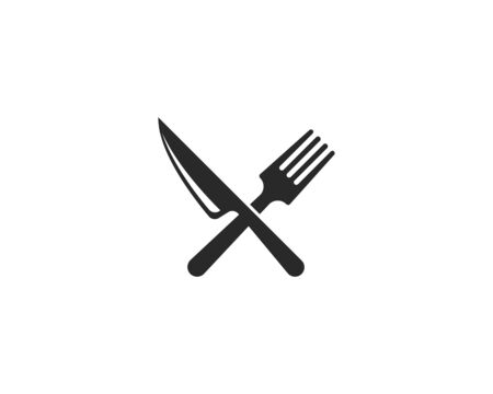 fork,knife and spoon icon vector template Ilustrace