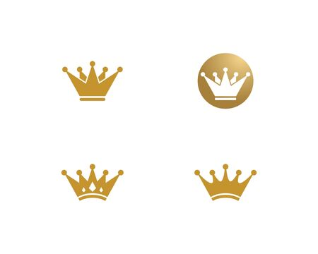 Crown Logo Template vector illustration Stok Fotoğraf - 124701545