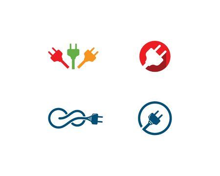 electric Plug logo vector template Ilustrace