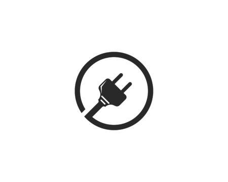 electric Plug logo vector template Illusztráció