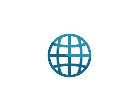 globe ilustration logo vector template