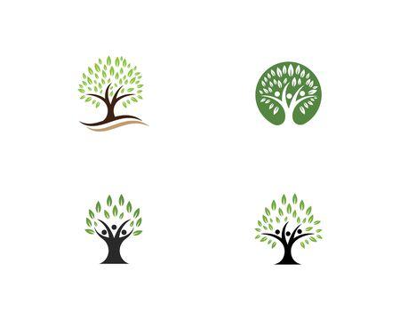 family tree logo template vector illustration Ilustração