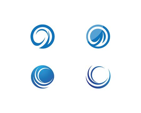 Circle Wave symbol and icon Logo Template vector Ilustração