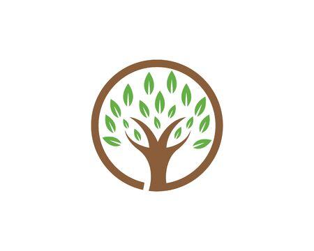 Tree icon logo template vector illustration Ilustração