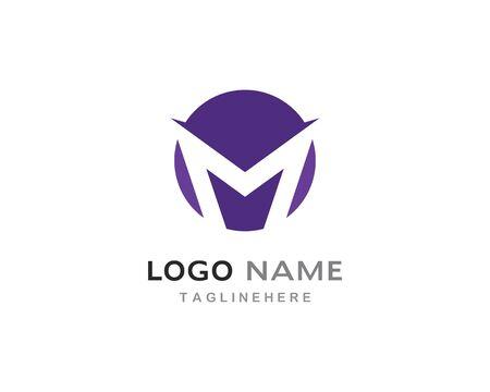 M Letter Logo Template Vector Illustration