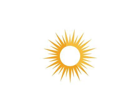 sun ilustration logo vector icon template Ilustração