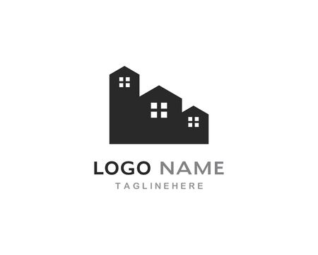 Real Estate , Property and Construction Logo design for business corporate sign Illustration