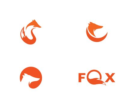 Fox logo vector template