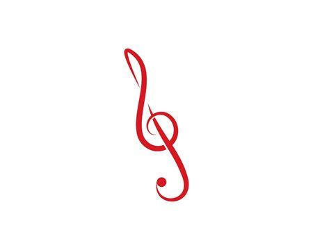 Music note Icon Vector template Vettoriali