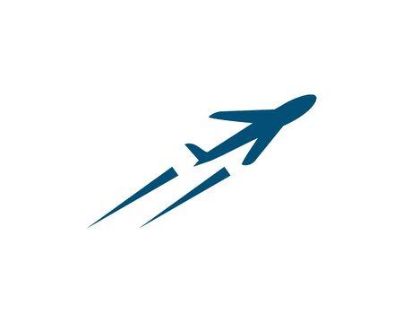Plane logo vector template Illustration