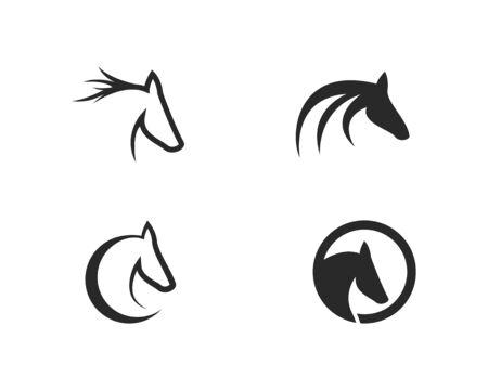 Horse Logo Template Vector illustration design Illusztráció