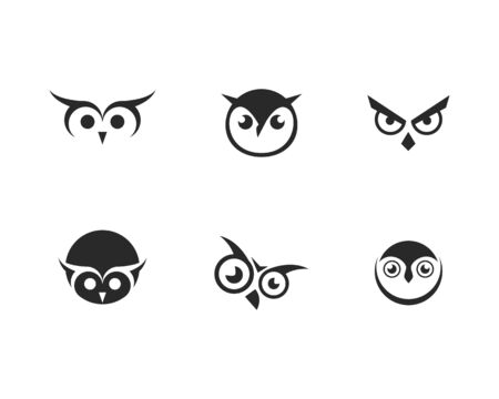 Owl logo vector icon template
