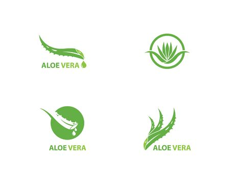 Aloe vera logo vector ilustration template  イラスト・ベクター素材
