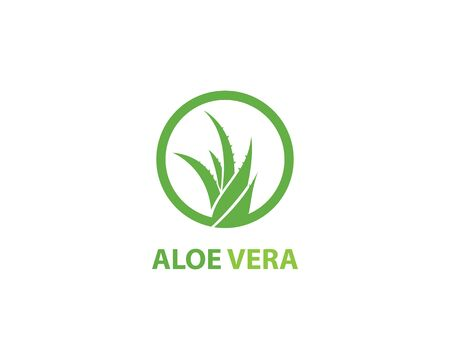 Aloe vera logo vector ilustration template 向量圖像