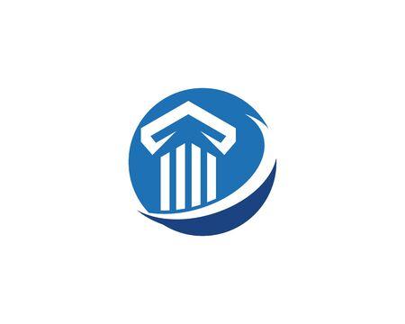 Pillar Logo vector Template Illusztráció