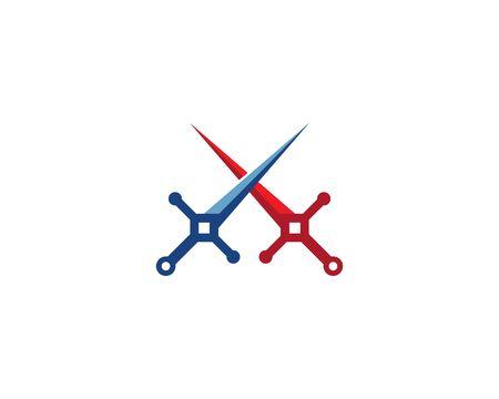 Sword logo vector template Çizim