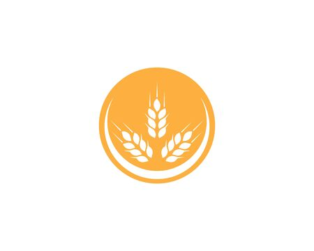 wheat Logo Template vector icon design