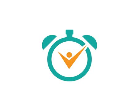 Timer logo vector template
