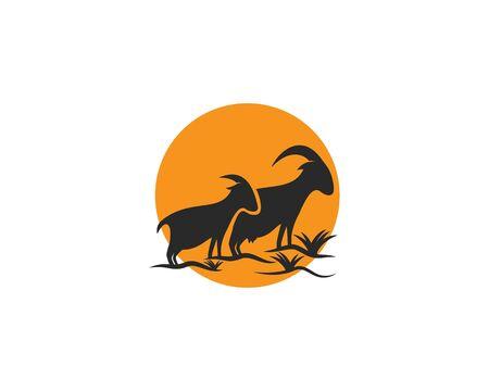 Goat Logo Template vector Ilustrace