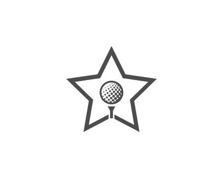 Golf Logo Template vector illustration design Illustration