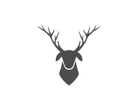 Deer ilustration logo vector template Ilustração