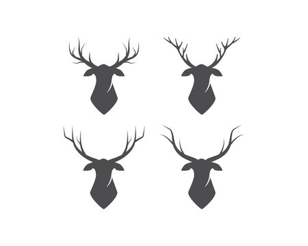 Set of Deer logo vector template