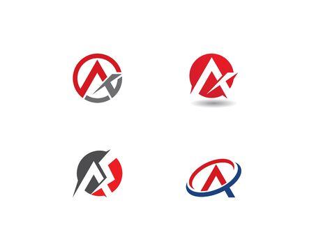 A Letter Logo Business Template Vector 일러스트