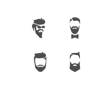 vintage barber shop logo vector icon template