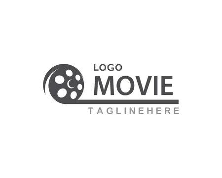 Movie logo vector template
