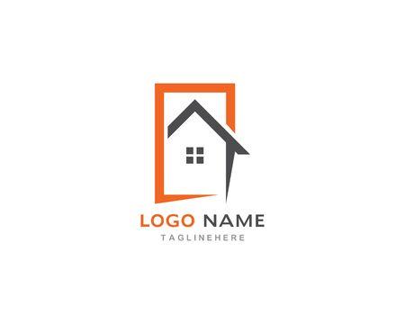 Real Estate , Property and Construction Logo design Illustration