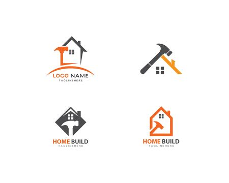 Home repair logo vector template